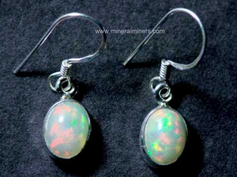 8x6mm Ethiopian Opal Earrings In Sterling Silver