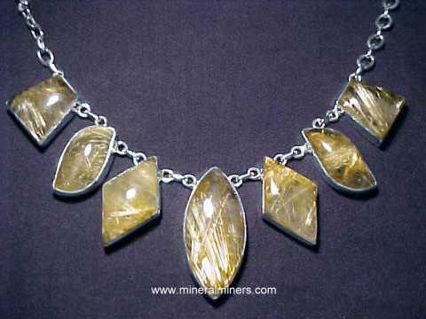 Golden Rutile Pendant Necklace